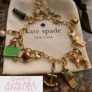 Kate Spade ♠️ Charms Bracelet Seahorse Anchor Mrs